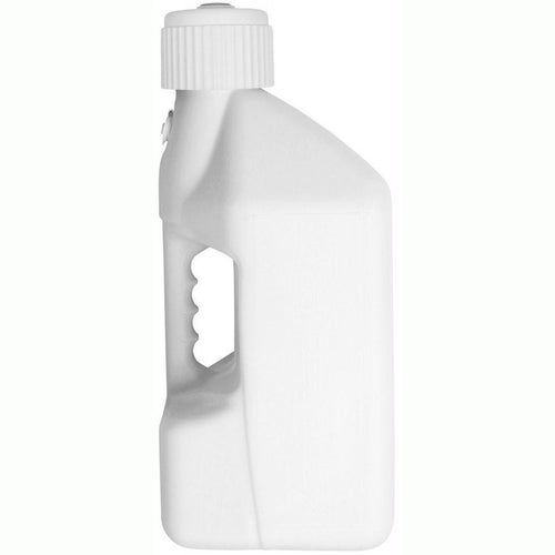 Tuff Jug 10 Litre Motocross and Enduro ReFuelling Can and Cap Only Fuel Can And Refueling - White