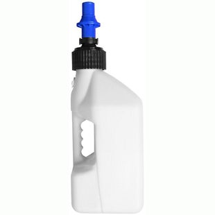 Tuff Jug 10 Litre Motocross and Enduro ReFuelling Can inc Ripper Valve , Fuel Can And Refueling - White Blue