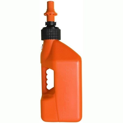 Fuel Can And Refueling Tuff Jug 10 Litre Motocross and Enduro ReFuelling Can inc Ripper Valve - Orange