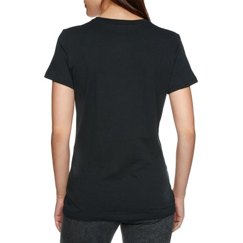 Fox Racing Drips Crew Womens Short Sleeve T-Shirt - Blk