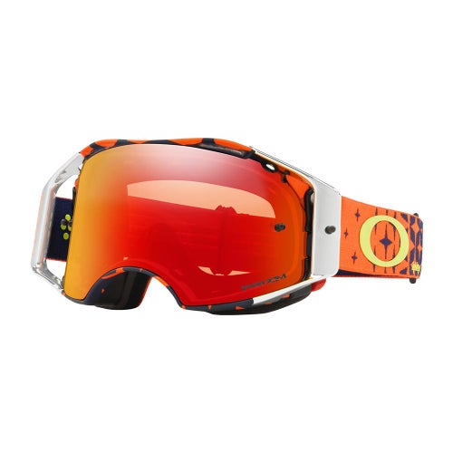 Oakley Airbrake Troy Lee Designs Megaburst Motocross Goggles - Prizm Mx Torch Lens