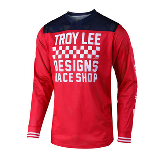 Troy Lee GP Air 181 Raceshop Motocross Jerseys - Red