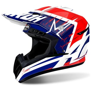 Airoh Switch Motocross Helmet - Starstruck Red Gloss