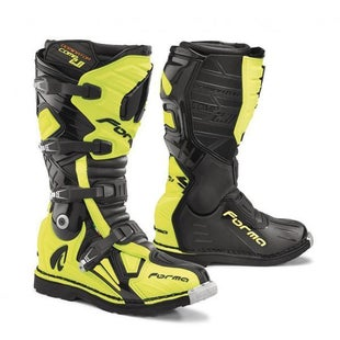 Forma Dominator Comp 20 MX Motocross Boots - Black Flo Yellow