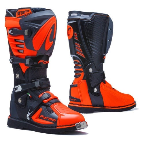Forma Predator 20 MX Motocross Boots Motocross Boots - Black Anthracite Orange