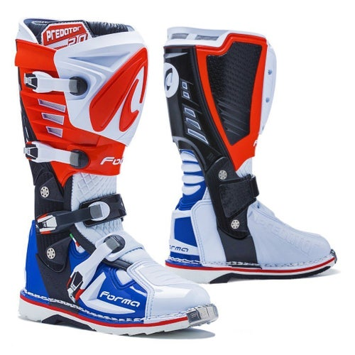 Bottes MX Forma Predator 20 MX Motocross Boots - Red White Blue