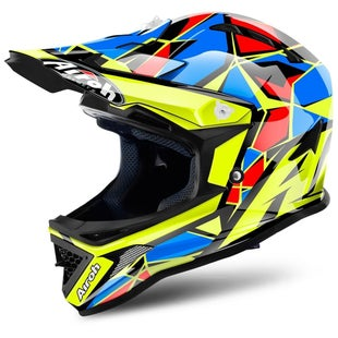 Airoh ArcherYOUTH Boys Motocross Helmet - Chief Blue X