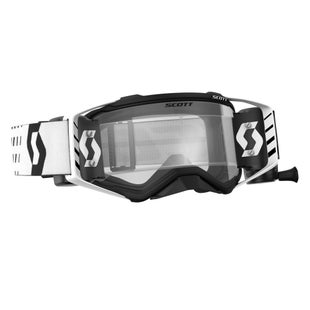 Scott Sports Prospect Motocross Goggles Works RollOff System Motocross Goggles - Black White