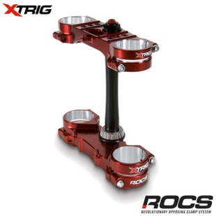 XTrig ROCS Yamaha Pro Triple Clamp Set YZ 250 2T M12 OS 2523mm 06 Triple Clamp - Bronze