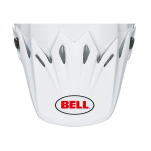 Bell Replacement Moto 9 Peak Solid White Helmvizier - Solid White