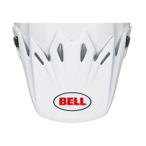 Bell Replacement Moto 9 Peak Solid White Helmet Peak - Solid White