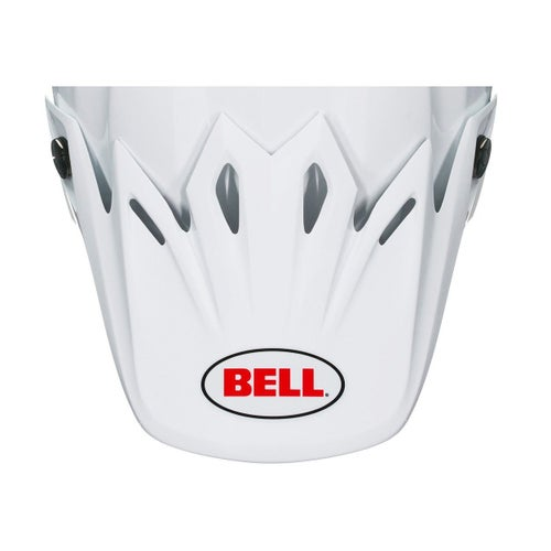 Bell Replacement Moto 9 Flex Peak Solid White Helmet Peak - Solid White