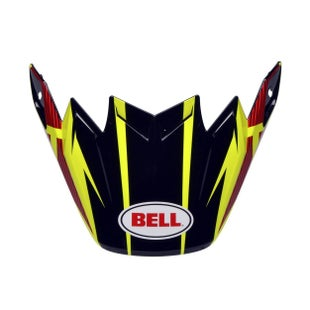 Bell Replacement Moto 9 Flex Peak Strapped Yellow Red Helmet Peak - Strapped Yellow Red