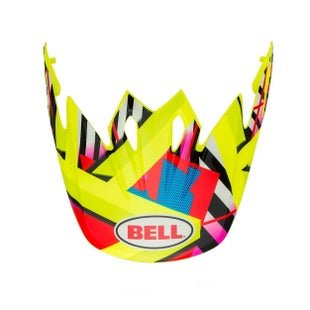 Bell Replacement MX9 Mips Tagger Double Trouble Helmet Peak - Hi Viz Yellow