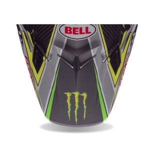 Visor casco Bell Replacement Moto 9 Flex Peak Pro Circuit Black Green - Pro Circuit Black Green