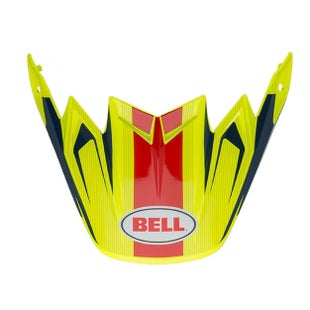 Bell Replacement Moto 9 Flex Peak Vice Blue Yellow Helmet Peak - Vice Blue Yellow