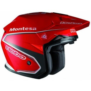 Hebo Zone 5 Montesa Classic Zone Red Polycarb W Visor Small Trials Helmet - Trials Helmet Zone 5 Montesa Classic Zone Red Polyca