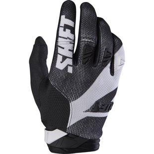 Shift 3LACK LABEL Mainline Pro Motocross Gloves - Black White