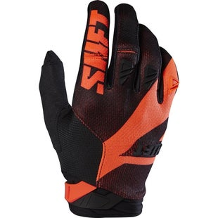 Shift 3LACK LABEL Mainline Pro Motocross Gloves - Black Orange