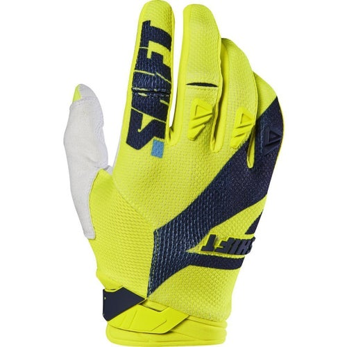 Shift 3LACK LABEL Mainline Pro Motocross Gloves - Flou Yellow