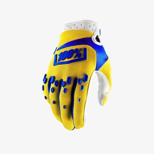 100 Percent 100 Airmatic YOUTH Boys Motocross Gloves - Yellow