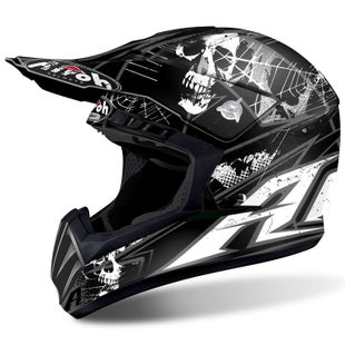 Airoh Switch Motocross Helmet - Scary Matte Black