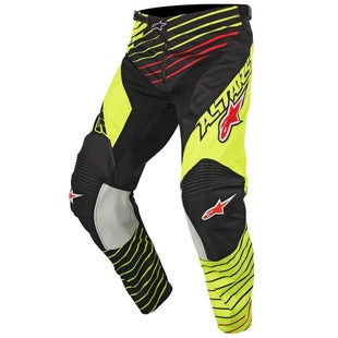 Calzones de MX Alpinestars Racer Braap - Flou Yellow Black