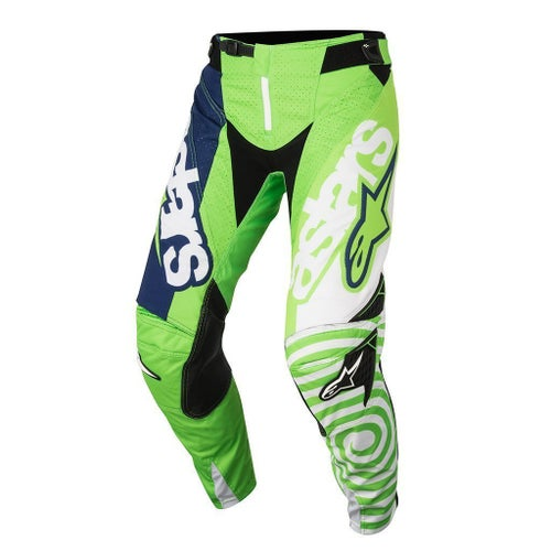 Alpinestars Racer Venom Motocross Pants - Fluo White Dark Blue