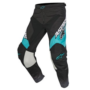 Calzones de MX Alpinestars Racer Supermatic - Black Dark Grey Teal