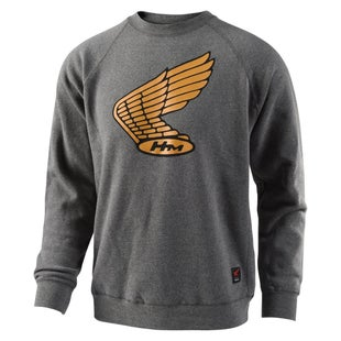 Troy Lee Honda Wing Crew Pullover Sweater - Charcoal