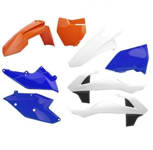 Polisport Plastics KTM 125450cc All EXC EXCF Enduro Models 1718 Plastic Kit - Six Days OEM