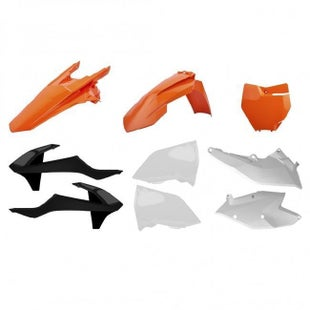 Polisport Plastics Plastic Kit KTM 125450cc All EXC EXCF Enduro Models 17 Plastic Kit - Orange