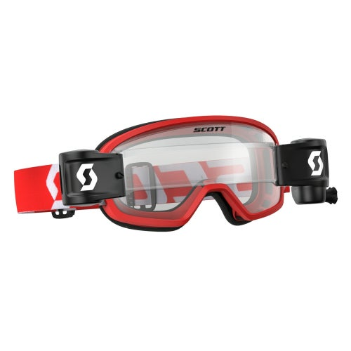 Gogle MX Scott Sports Buzz Motocross Goggles Works Roll Off System YOUTH - Red