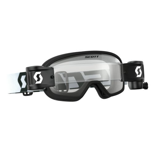 Scott Sports Buzz Motocross Goggles Works Roll Off System YOUTH Motocross Goggles - Black