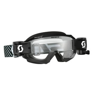 Scott Sports Hustle Motocross Goggles Works RollOff System Motocross Goggles - Black White