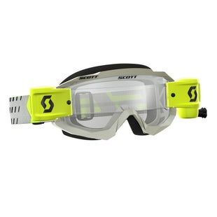 Scott Sports Hustle Motocross Goggles Works RollOff System Motocross Goggles - Grey Yellow
