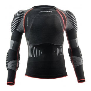 Acerbis XFit Pro 20 Body Armour Body Protection - Black Red