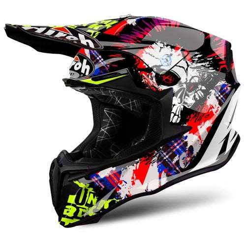 Airoh Twist MX Helm - Crazy Black