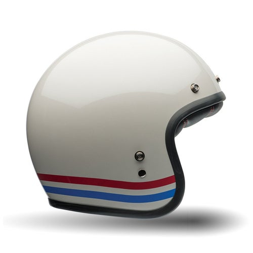 Bell Custom 500 Road Helmet - Stripes Pearl White