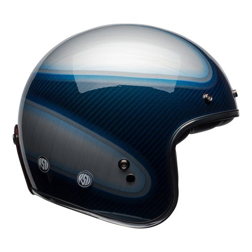 Bell Custom 500 Carbon Road Helmet - RSD Jager Gloss Candy Blue Carbon