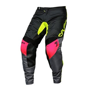 Seven 181 Annex Ignite YOUTH Motocross Pants - Black Fluo Yellow