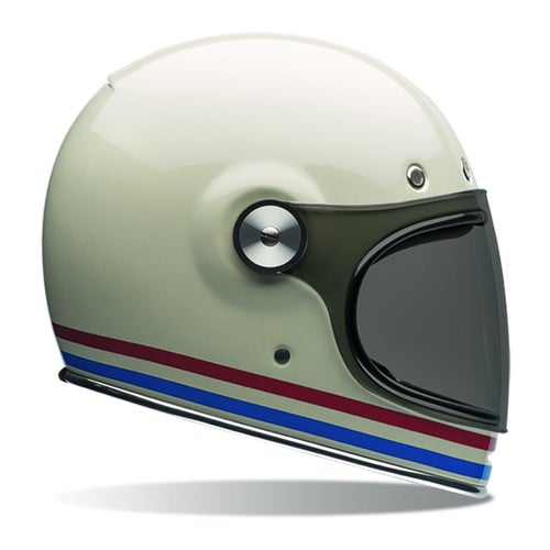 Bell Bullitt Road Helmet - Stripes Pearl White