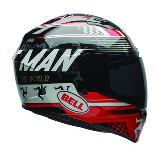 Bell Qualifier DLX Road Helmet - Isle Of Man 17.0 Black Red