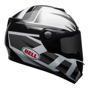 Bell SRT Road Helmet - Predator Gloss White Black