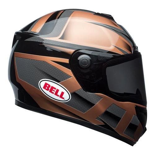 Bell SRT Road Helmet - Predator Gloss Copper Black