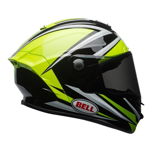 Bell Star MIPS Tortion Gloss Road Helmet - Hi Vis Green Black
