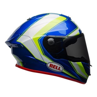 Bell Race StarSector Gloss Road Helmet - Hi Vis Green Blue