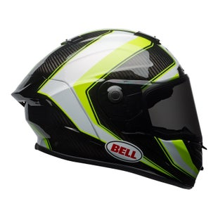Bell Race StarSector Gloss Road Helmet - Hi Vis Green Carbon