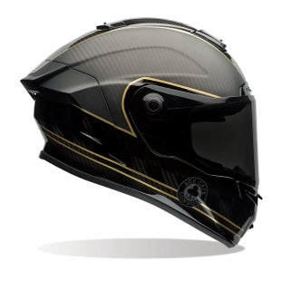 Bell Race Star Road Helmet - Ace Cafe Speed Check Matte Black Gold