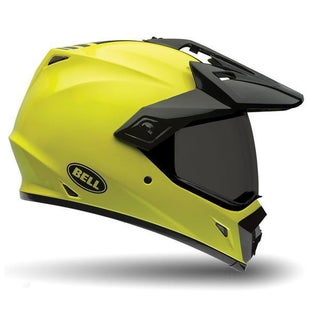 Bell MX9 Adventure MIPS Gloss Dual Road and Motocross Helmet - Hi Vis Yellow